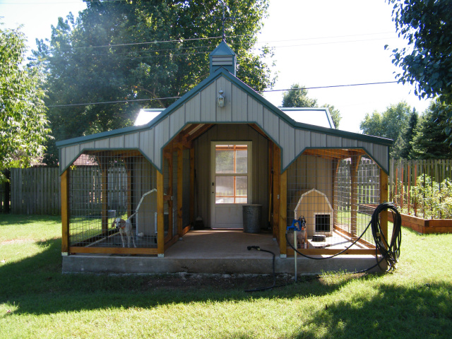 18 shed kennel combo images frompo for Dog kennel shed combo plans