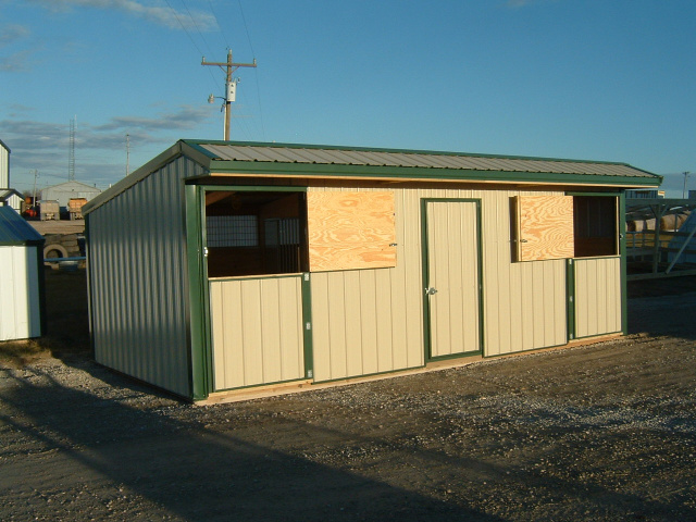 Double Stall Horse Barn