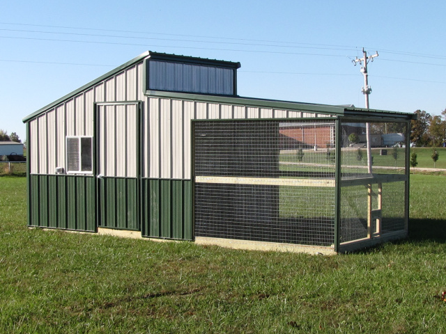 Poultry House With Shed