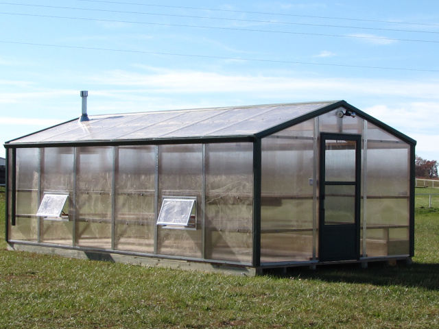 Green House Garden Shed Combo
