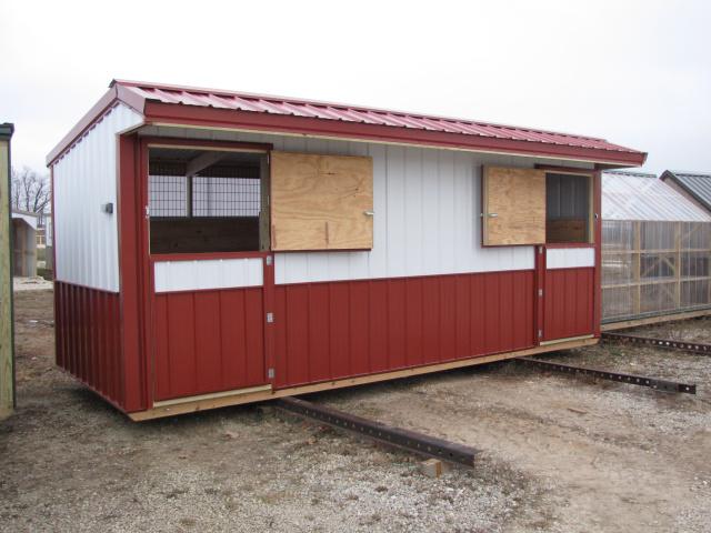 Double Stall Horse Barn