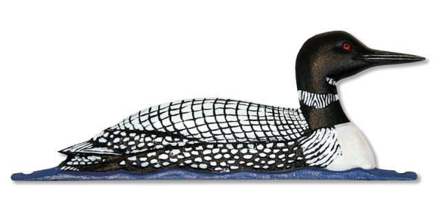 "30"" Painted Loon Weathervane"