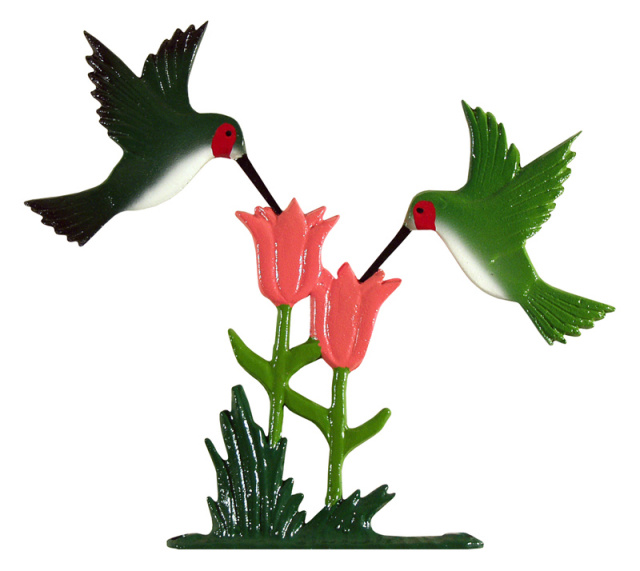 "30"" Painted Hummingbird Weathervane"